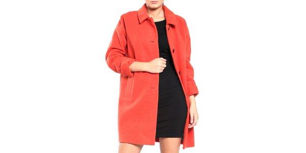 Dámsky oranžový retro kabát Vera Ravenna