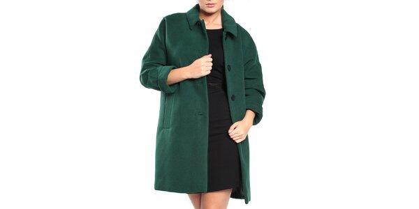 Dámsky fľaškovo zelený retro kabát Vera Ravenna