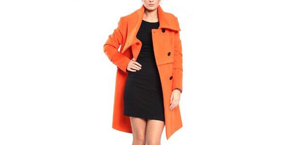 Dámsky oranžový dvojradový kabát Vera Ravenna