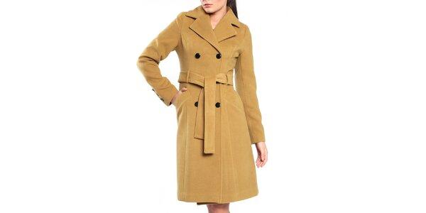 Dámsky okrový kabát Vera Ravenna