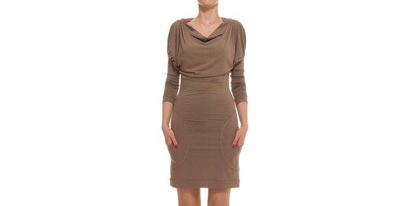 Dámske hnedé šaty Yuliya Babich