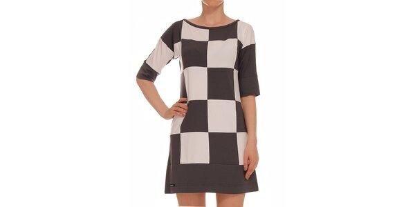 Dámske dvojfarebné kockované šaty s 3/4 rukávom Yuliya Babich