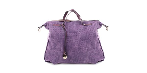 Dámska fialová kabelka s perforáciou Bessie