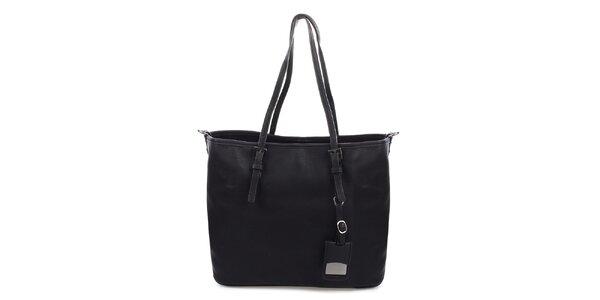 Dámska čierna kabelka s ramenným popruhom Bessie
