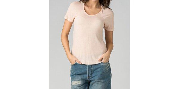 Dámske svetlo ružové tričko By Zoé