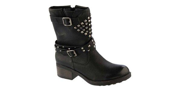 Dámske čierne topánky s dekoratívnymi cvočkami Betsy fd7c45375eb