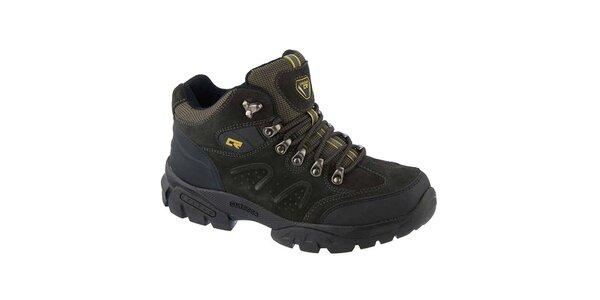 Pánske tmavé outdoorové topánky Crosby