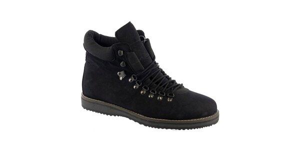 Pánske čierne topánky so šnurovaním Keddo
