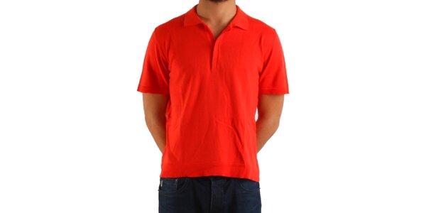 Pánske sýto červené polo Calvin Klein