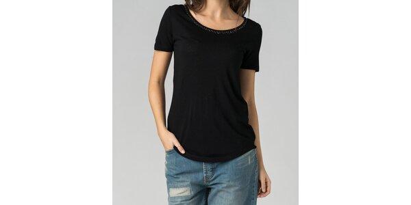 Dámske čierne tričko By Zoé