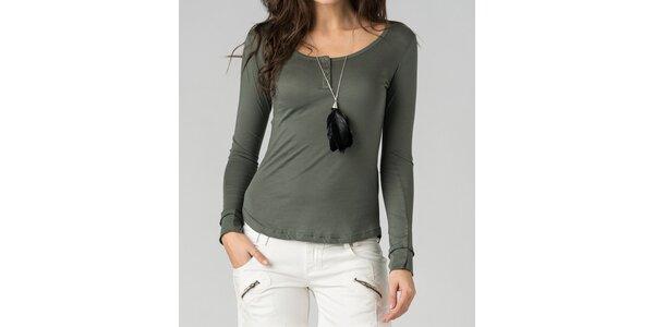 Dámske olivovo zelené tričko By Zoé