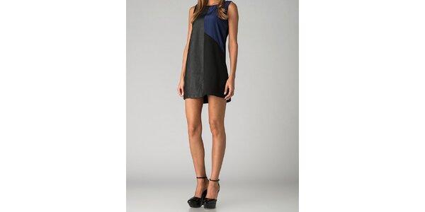 Dámske čierno-modré mini šaty By Zoé