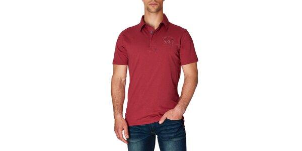 Pánske červené polo tričko Paul Stragas
