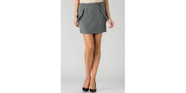 Dámska šedá mini sukňa By Zoé