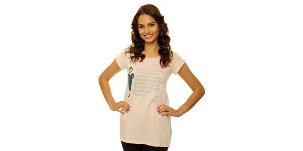Dámske marhuľové tričko s letuškou Nice Things