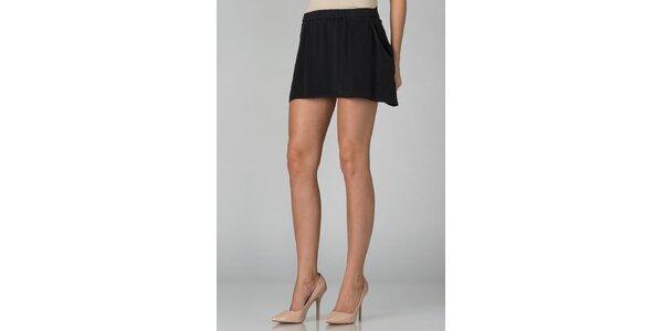 Dámska čierna hodvábna mini sukňa By Zoé