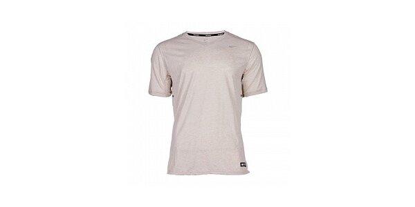 Pánske svetlo šedé bežecké tričko Nike