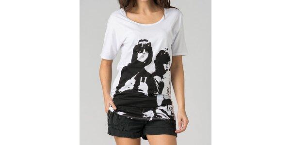 Dámske biele tričko By Zoé s potlačou