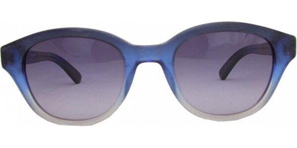 Modré dúhové retro okuliare Jil Sander
