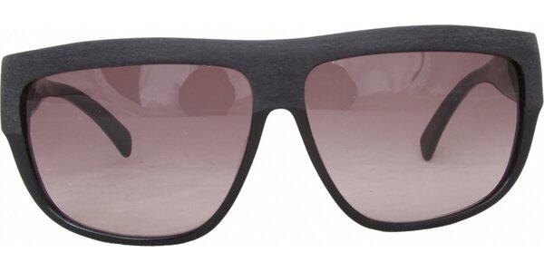 Dámske čierne retro okuliare s narúžovelými sklíčkami Jil Sander