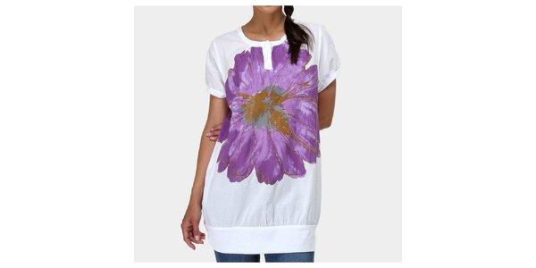 Dámske biele tričko s kvetinou Piedra and Agua