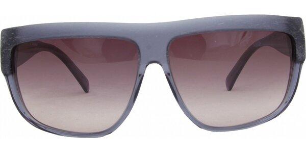 Dámske modrošedé retro okuliare s narúžovelými sklíčkami Jil Sander