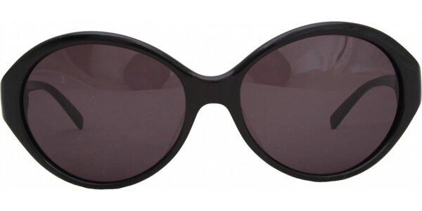 Dámske čierne okuliare s ružovými sklíčkami Jil Sander
