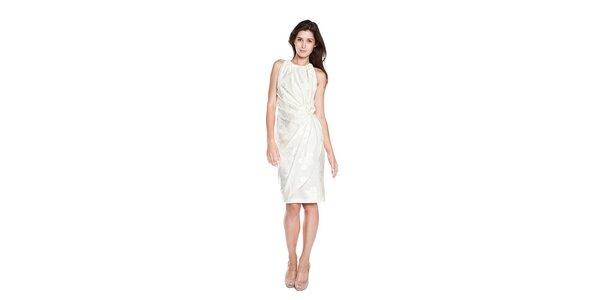 Dámske biele púzdrové šaty Moschino Cheap & Chic s vyšitými ružami