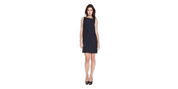 Dámske tmavo modré púzdrové šaty Moschino Cheap & Chic