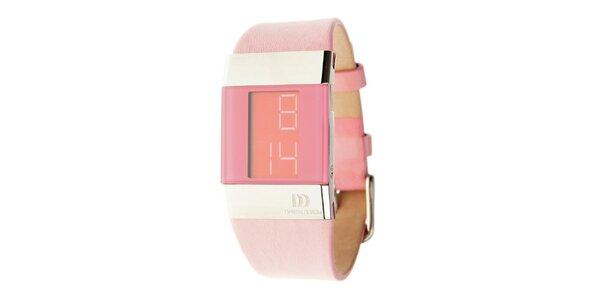 Dámske ružové digitálne hodinky Danish Design