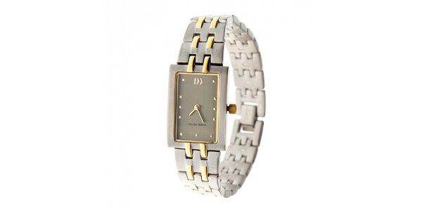 Dámske titanové hodinky Danish Design so zlatými detailami