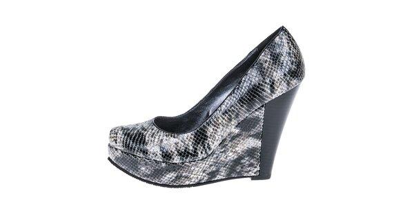 Dámske topánky na platforme s hadím vzorom 1to3