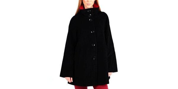 Dámsky čierny kabát na gombíky Gémo