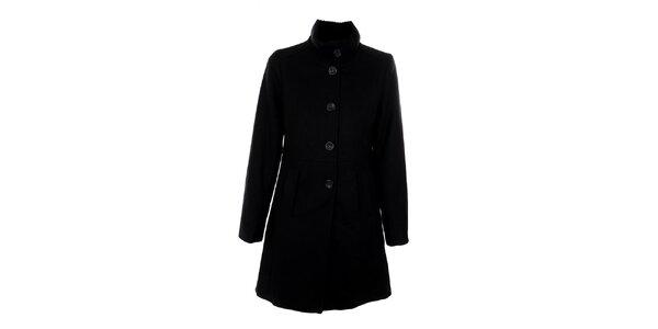 Dámsky čierny jednoradový kabát Straboski