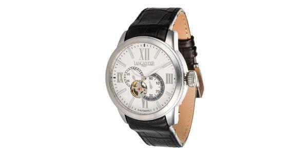 Pánske oceľové hodinky so svetlým ciferníkom Lancaster
