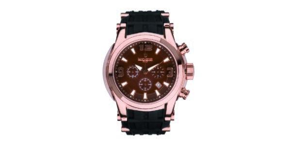Pánske hodinky s ružovo zlatým púzdrom Lancaster