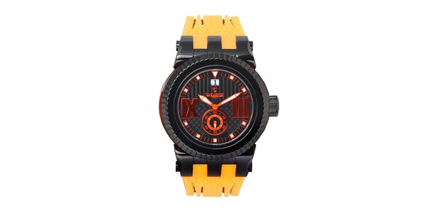 Pánske žlto-čierne hodinky Lancaster