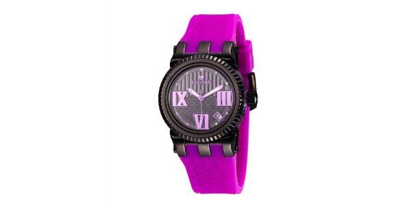 Dámske hodinky s fialovým náramkom Lancaster