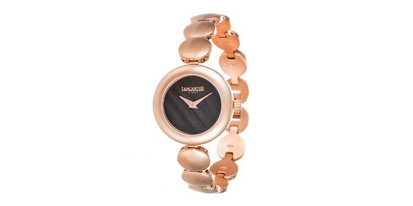 Dámske minimalistické hodinky s tmavým ciferníkom Lancaster