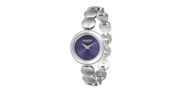 Dámske minimalistické hodinky s modrým ciferníkom Lancaster