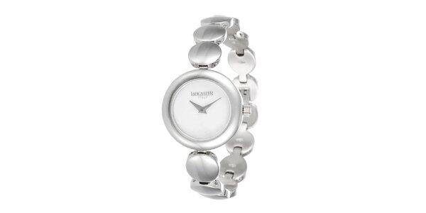 Dámske minimalistické hodinky v striebornom tóne Lancaster