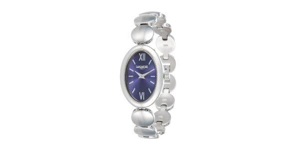 Dámske strieborné hodinky s oválnym púzdrom Lancaster