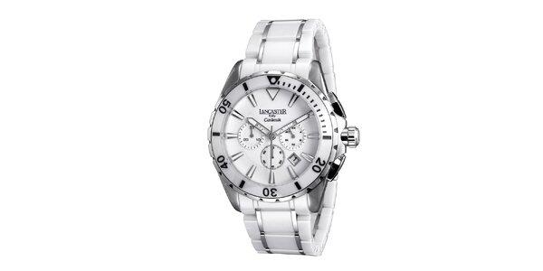 Pánske biele keramické hodinky Lancaster