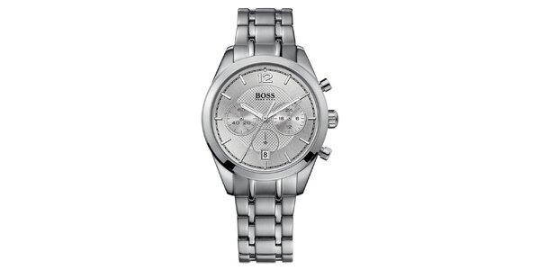 Pánske oceľové hodinky s chronografom Hugo Boss