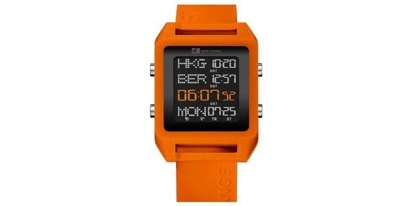 Pánske oranžové digitálne hodinky Hugo Boss Orange