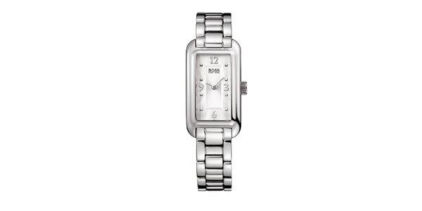 Dámske hodinky s obdĺžnikovým ciferníkom Hugo Boss
