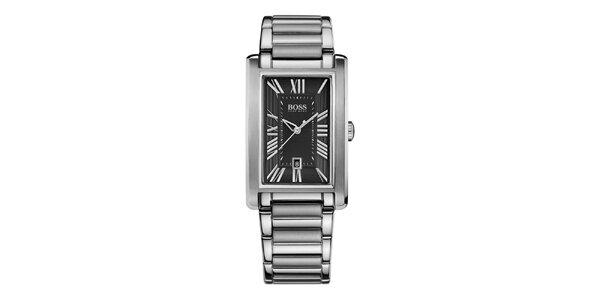 Pánske hodinky s obdĺžnikovým ciferníkom Hugo Boss baca4f39631