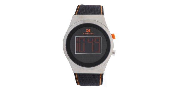 Pánske digitálne hodinky s oranžovými prvkami Hugo Boss Orange