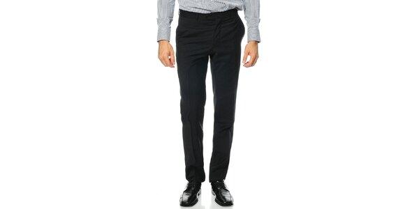 Pánske čierne vlnené nohavice Uomini Italiani