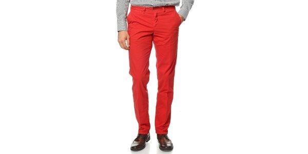 Pánske červené nohavice Uomini Italiani